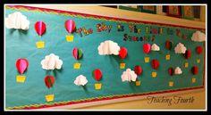 Teaching Fourth: Hot Air Balloon Bulletin Board