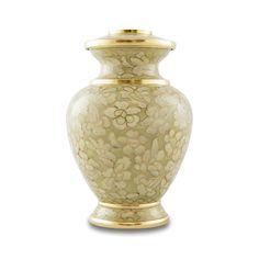 - Extra small sized cremation urn with an intricate cloisonne design. - Cloisonne an ancient Chinese handcrafted art created on metal to create exquisite designs with enamel. Today, all cloisonne prod