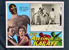 """NEUTRON VS LOS  ASESINOS DEL KARATE"" WOLF RUBINSKY N MINT LOBBY CARD PHOTO 1964"