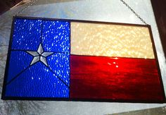 Rustic Stained glass Texas State Flag panel