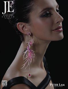 Precious Stone Earrings Jewelry from #PeterLamJewellery Ltd #HKJE #Magazine #JE73 #FW2015 #CoverStory #PreciousStoneJewelry #FrontCover
