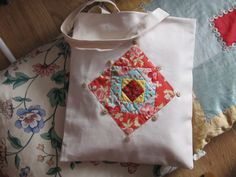 Patchwork Tote Bag by PatchworkThings on Etsy, £17.50