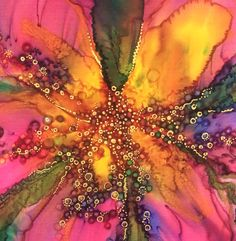 Silk painting, Helen Mortimer