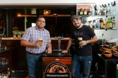 Moropotente brewers Eduardo Mendieta (left) and José Marcel Sanchez (right) -- craft brewing in Nicaragua