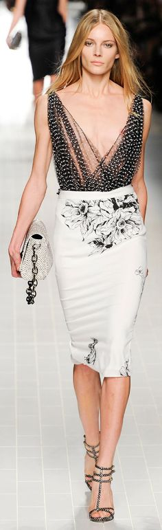 Blumarine - love the skirt, just need a similar but more substantial top