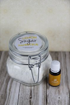 Lemon Sugar Hand Scrub is super simple recipe that smells delicious and will leave your hands feeling super soft!