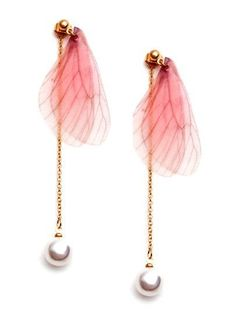 0390793aae6 SheIn offers Pink Butterfly Wing Faux Pearl Drop Earrings   more to fit  your fashionable needs. Claudine Zapanta