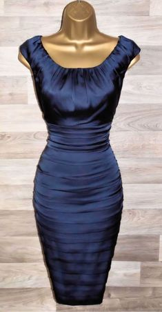 f53df5f236 COAST STUNNING NAVY BLUE COCKTAIL WIGGLE DRESS BNWT UK 18 OCCASION WEDDING   fashion  clothing