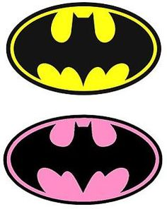 Batman-Yellow-Batgirl-Pink-Iron-On-Transfer-for-LIGHT-Fabric-4-5-x-7-5