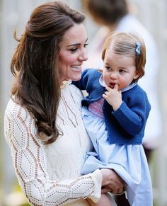 Catherine and Charlotte in Canada at a garden party for children.