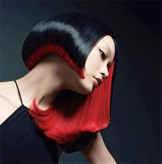 red & black bob