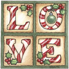 love - This would be cool painted on an old window frame.