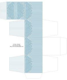 Don't Eat the Paste: Fancy Pinstripe Printable Gift Box