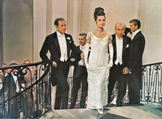 Eliza's white beaded gown from My Fair Lady.