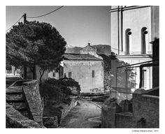 Photographies noir et blanc de villages de corse
