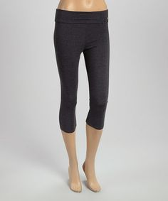 This Charcoal Capri Yoga Pants is perfect! #zulilyfinds