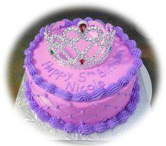 "Pink and Purple princess cake - 8"" round cake using the diamond impression mat."