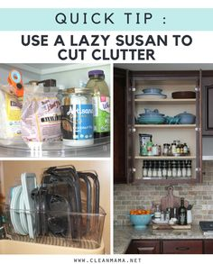 Quick Tip : Use a Lazy Susan to Cut Clutter - Clean Mama