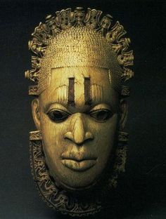 "tastemybraincandy: "" Benin Hip masks At Benin, aas in many other African cultures, the ahead is the symbolic center for a person's intelligence, wisdom, and ability o succeed in this world or to. Arte Tribal, Tribal Art, Statues, African Tattoo, Atelier D Art, African Sculptures, Africa Art, 3d Prints, African Masks"