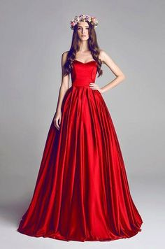 Romantic A Line Evening Gowns Red Prom Dress 2015 Sweetheart Court Train Satin Draped Red Ball Gowns, Ball Dresses, Prom Dresses, Red Gowns, Bridesmaid Dress, Long Red Dresses, Formal Dresses, Dresses 2016, Evening Dresses 2014