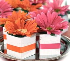 Daisy Wedding Centerpieces | Gerber Daisy Centerpieces: Wedding Ideas & Inspiration