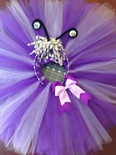 Monsters Inc's Boo purple tutu and headband Monsters Inc Costume Diy, Monsters Inc Halloween, Monster Inc Costumes, Monster Inc Party, Monster Birthday Parties, 1st Birthday Girls, Family Halloween Costumes, Halloween Pictures, Halloween Decorations