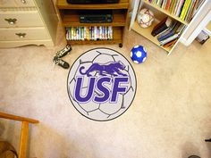 Collegiate University of Sioux Falls Soccer Ball Doormat