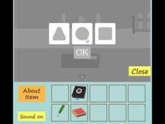 science lab: In this game, you try to escape the room by finding items and solving puzzles.