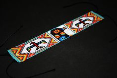 Huichol Anklet Native American Anklet Thunderbird Anklet
