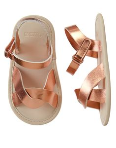 8dc17d23c Rose Gold Metallic Sandals - (Available in Sizes 1-4) Regular  21.95 Baby