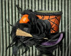 Halloween Mini Top Hat Macabre Hat Gothic Fascinator Day of