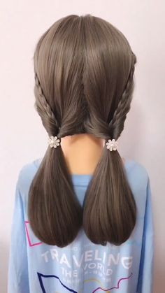 Very, very simple hairstyle, one minute can learn Personal Shawl Hair Style women - A very simple and beautiful lady's medium and long hairstyle. I have provided a short hairstyle v - Cute Simple Hairstyles, Easy Hairstyles For Medium Hair, Short Hairstyles For Women, Cool Hairstyles, Party Hairstyles, Simple Hairstyle Video, Hairstyle For Kids, Hairstyles Videos, Hairstyle Short