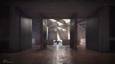 Gallery - A Rendered Recreation of Marcel Breuer's St. John's Abbey Church - 10