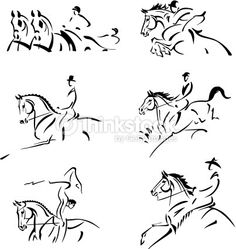 Vector Art : Equestrian olympics