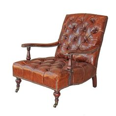 Cambridge Lounge Chair now featured on Fab. Need a leather foot stool to go with it.