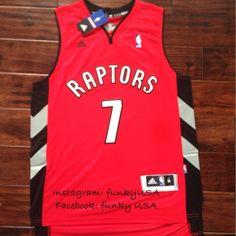 7 KYLE LOWRY Toronto Raptors Basketball Jersey Size M Shirt Red Super Hot! 29d245de5