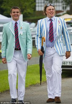 Dapper day out: Men and women donned their best outfits for the day by the river