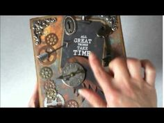 Steampunk Box Mini Album by Pattys Crafty Spot - YouTube