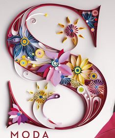 Esta semana, en la-revista-que-me-da-de-comer, nos hemos lanzado a por el Extra . This week, in the magazine-that-gives-me-to-eat, we have launched for the Extra Spring Fashion with a larger than no Quilling Letters, Arte Quilling, Quilling Paper Craft, Paper Crafts, Quilled Paper Art, Paper Quilling Designs, Quilling Ideas, Alphabet Letters Design, Monogram Alphabet