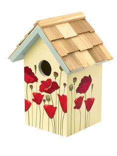 Floral Print Birdhouses - Poppy, Cosmos, and Nasturtium to brighten your garden. | Gardeners.com