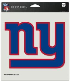 New York Giants Decal 8x8 Perfect Cut Color