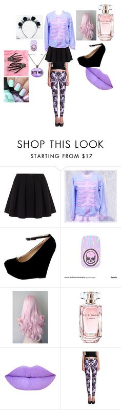 """Pastel Goth"" by depressedcookie on Polyvore featuring Polo Ralph Lauren, Elie Saab, women's clothing, women, female, woman, misses and juniors"