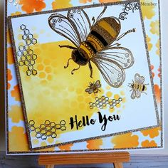 Doodle Art Bee stamp from Bee Crafty Doodle Art, Birthday Cards, Stencils, Bee, Creativity, Doodles, Stamp, Crafty, Bday Cards