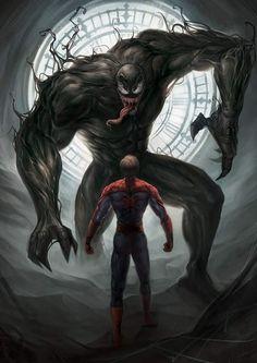 Venom and Spiderman Heros Comics, Marvel Comics Art, Bd Comics, Marvel Memes, Marvel Venom, Marvel Villains, Marvel Characters, Marvel Avengers, Deadpool Wolverine