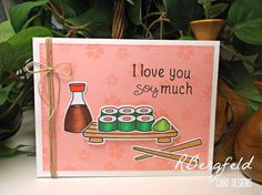 Rachel's Card Corner: Mother's Day and More Sushi! - Lawn Fawn, Let's Roll