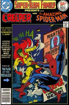 Super Team Family The Lost Issues Creeper And Spider Man