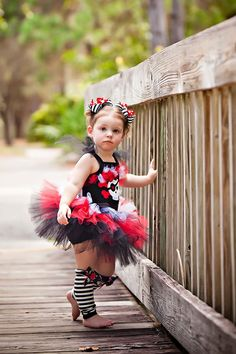 Pirate Girl Costume TuTu Set.