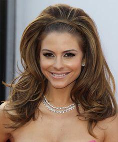 Maria Menounos Hairstyle - Long Straight Formal - Medium Brunette