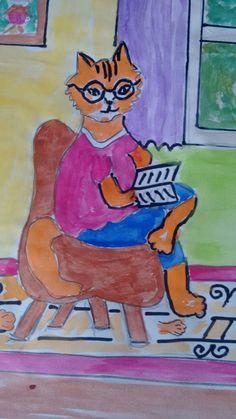 Дедушка  читает.
