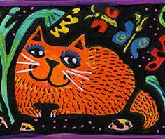 Smiling Cat, Orange Cats, Inspiring Art, Cat Art, Art Girl, Watercolors, Owls, Sketching, Funny Cats
